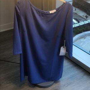 Purple dress with 3/4 sleeve